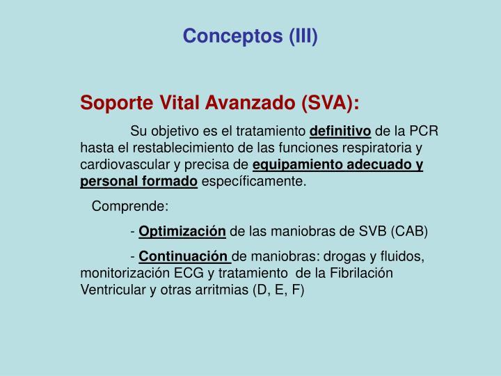 Conceptos (III)