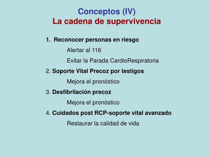 Conceptos (IV)