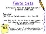 finite sets