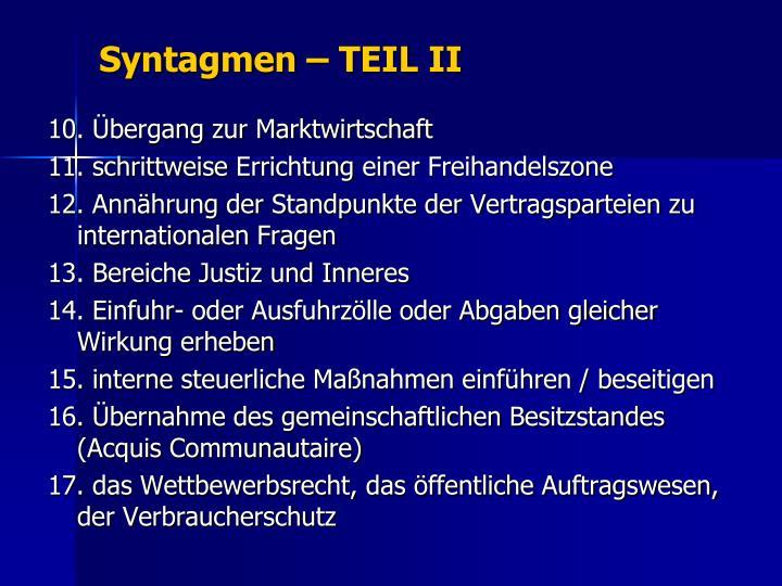 Syntagmen – TEIL II