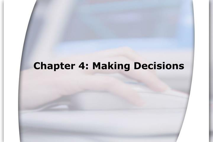 chapter 4 making decisions n.