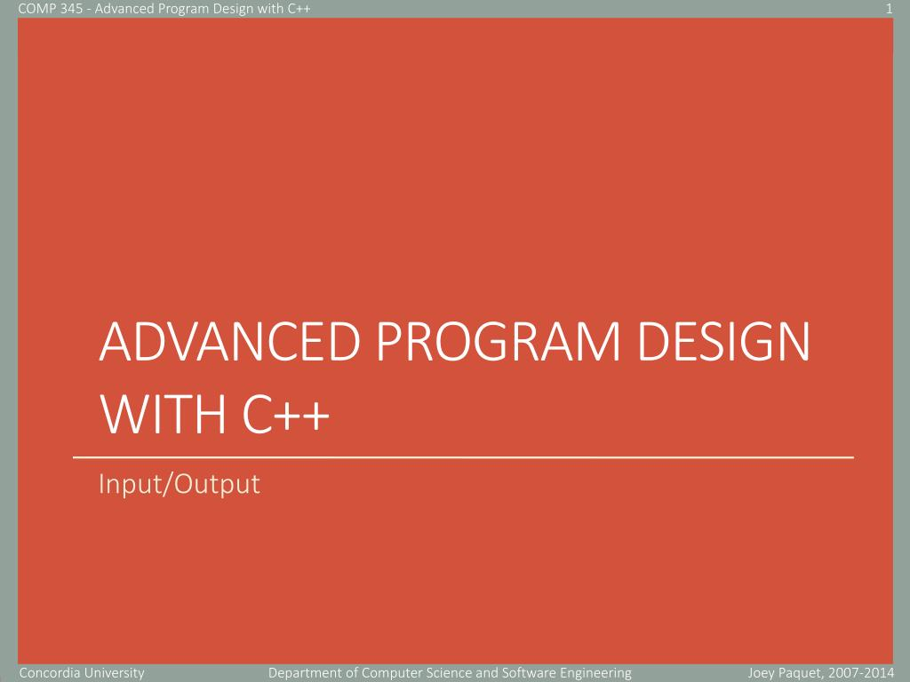 Ppt Advanced Program Design With C Powerpoint Presentation Free Download Id 5793759