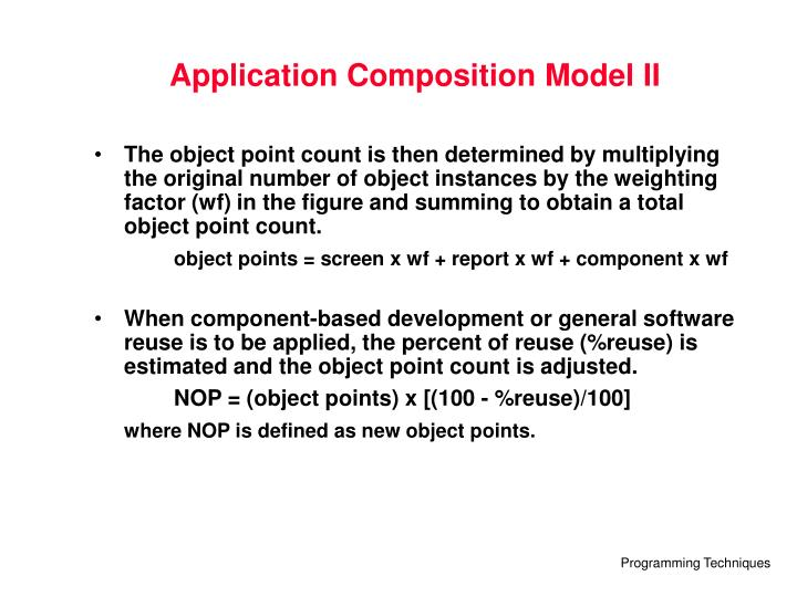Application Composition Model II