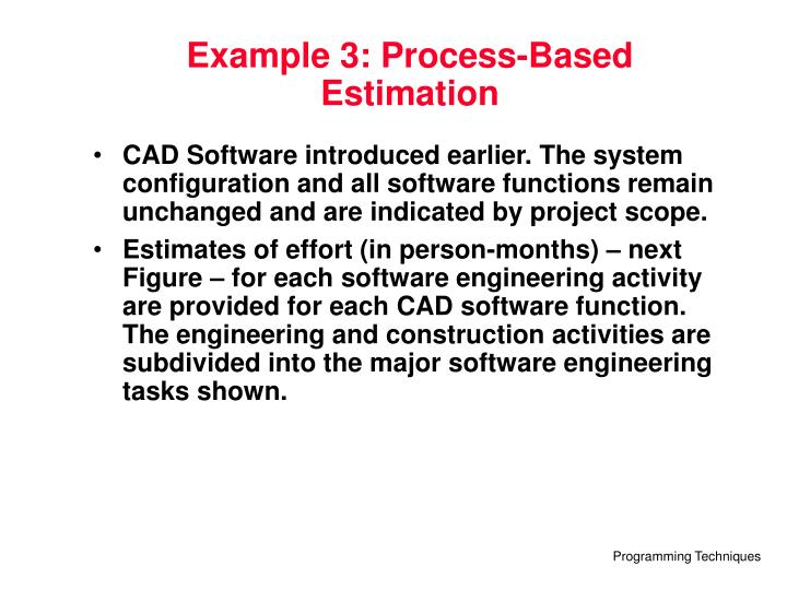 Example 3: Process-Based Estimation