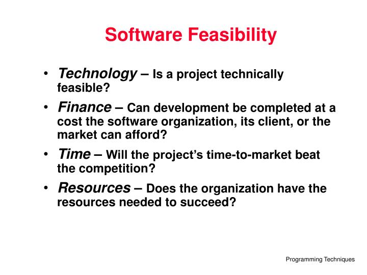 Software Feasibility