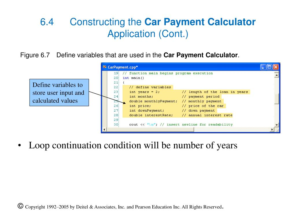 Used Car Down Payment Calculator >> Ppt Tutorial 6 Car Payment Calculator Application