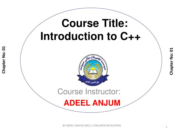 course title introduction to c n.