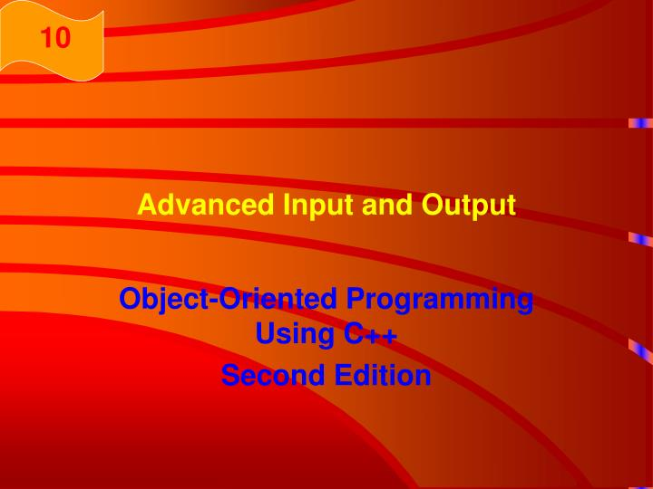 advanced input and output n.