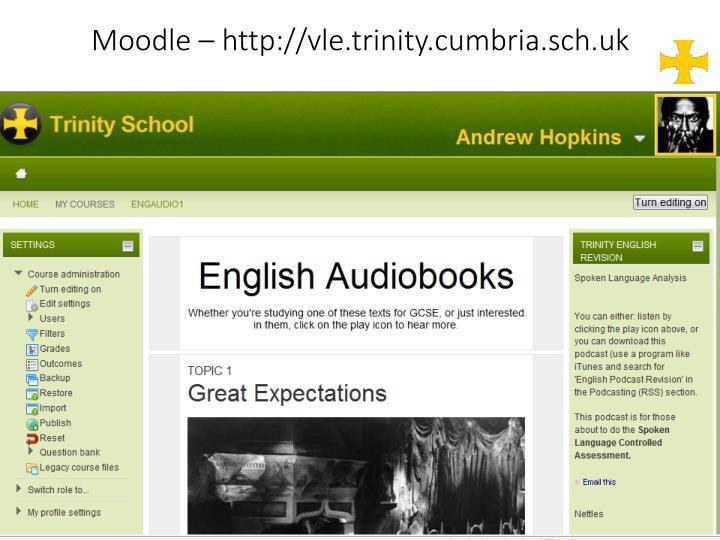 Moodle – http://vle.trinity.cumbria.sch.uk
