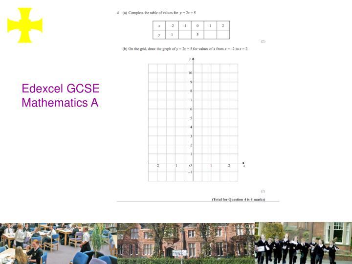 Edexcel GCSE Mathematics A