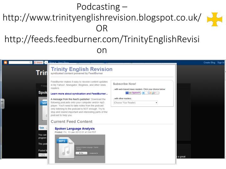 Podcasting –