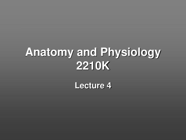 anatomy and physiology 2210k n.
