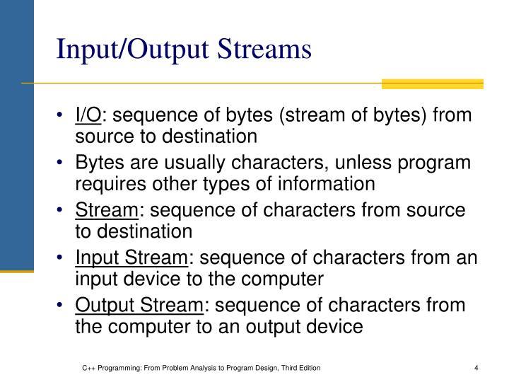 Input/Output Streams