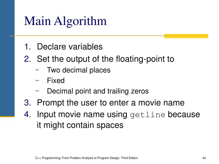 Main Algorithm
