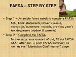 fafsa step by step