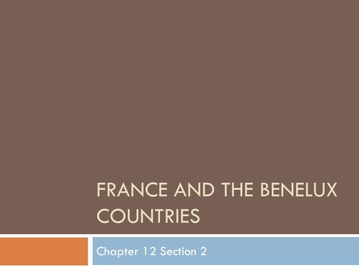 france and the benelux countries n.