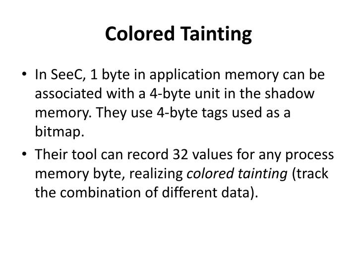 Colored Tainting