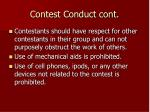 contest conduct cont