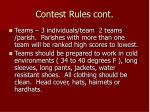 contest rules cont