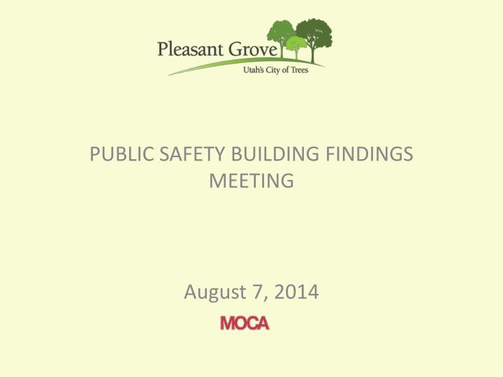 public safety building findings meeting n.