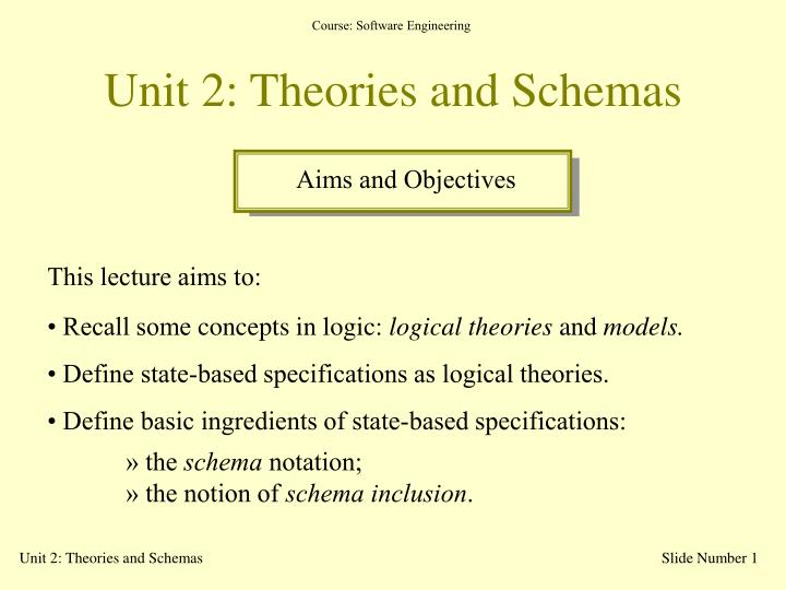 unit 2 theories and schemas n.