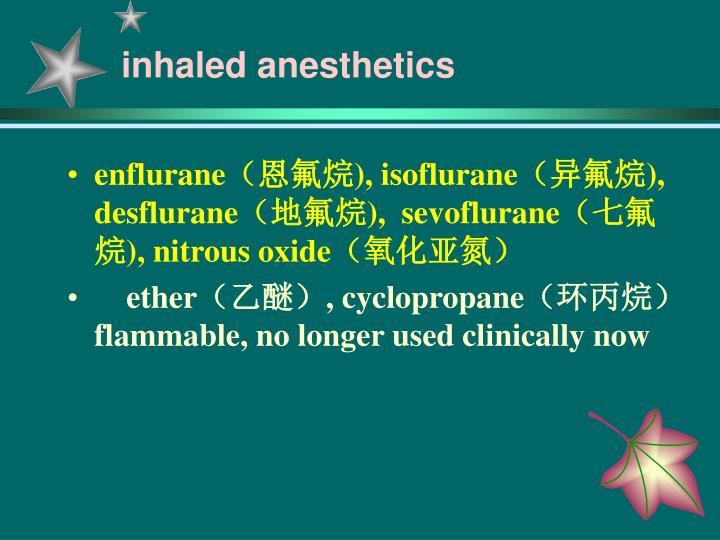 inhaled anesthetics