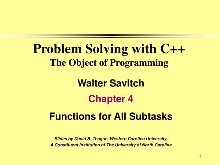 problem solving with c the object of programming n.