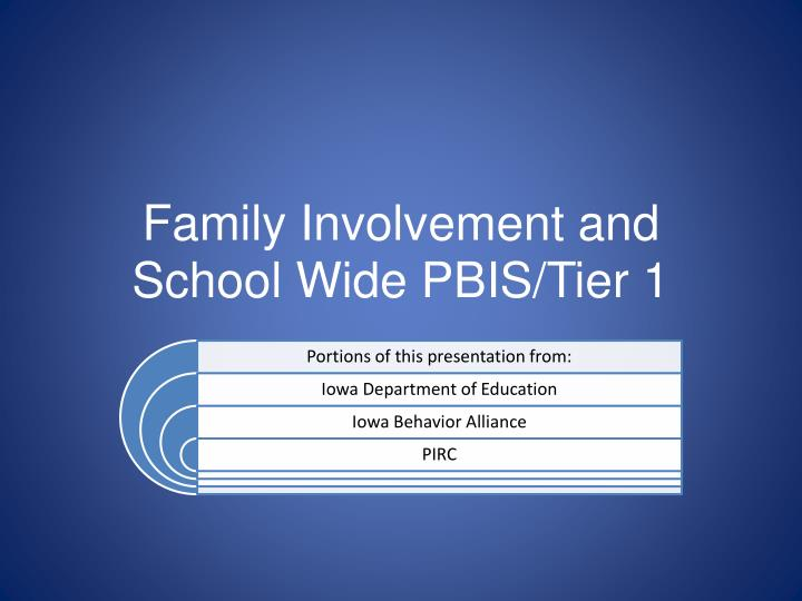 family involvement and school wide pbis tier 1 n.
