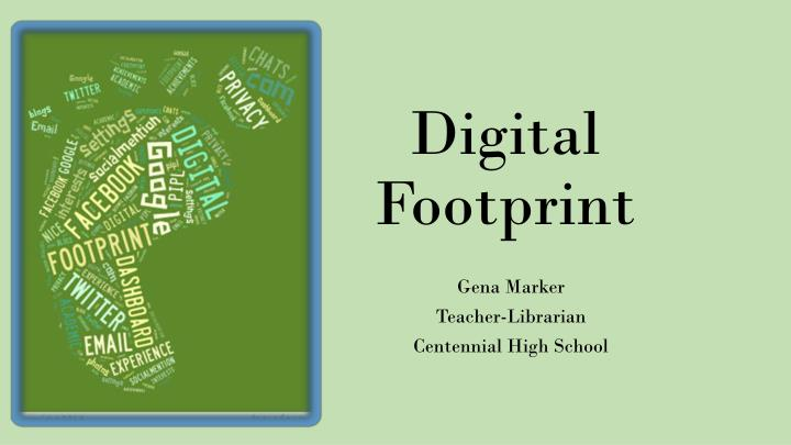 digital footprint n.