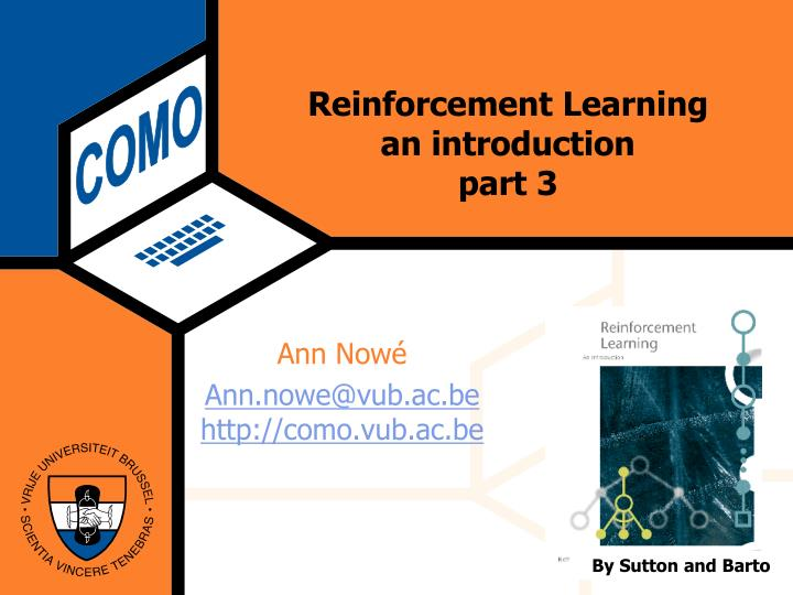 reinforcement learning an introduction part 3 n.