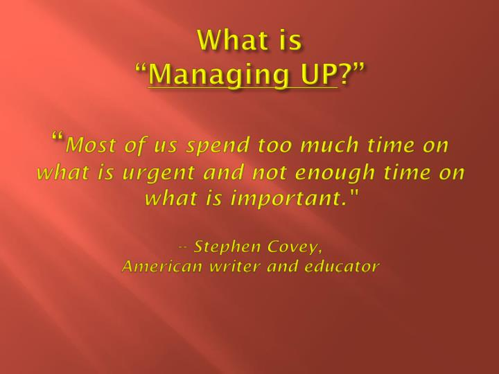 the importance of managing time for americans The importance of health, fitness, and wellness the ability to apply force over a long period of time or to complete the american college.