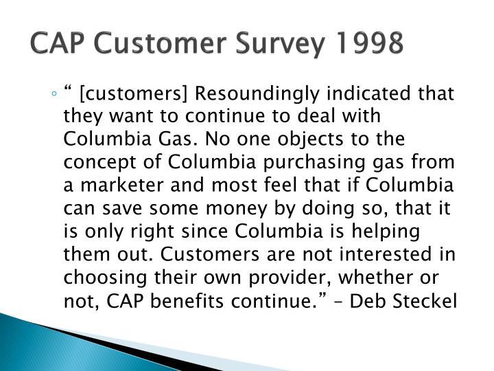 CAP Customer Survey 1998