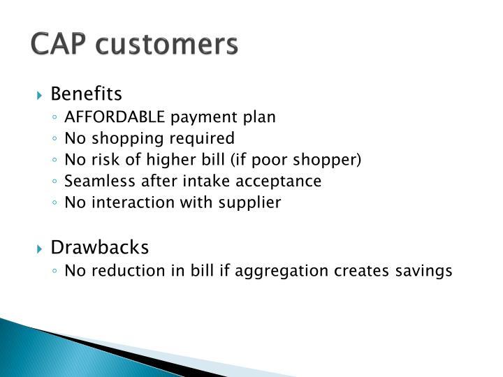 CAP customers