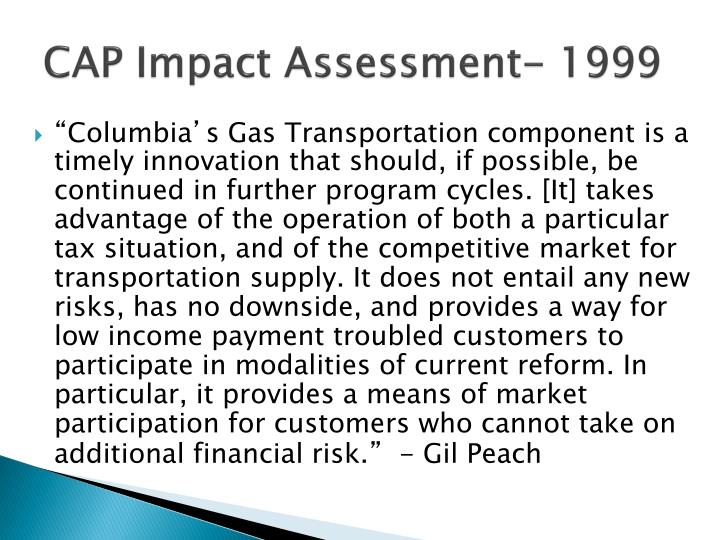 CAP Impact Assessment- 1999