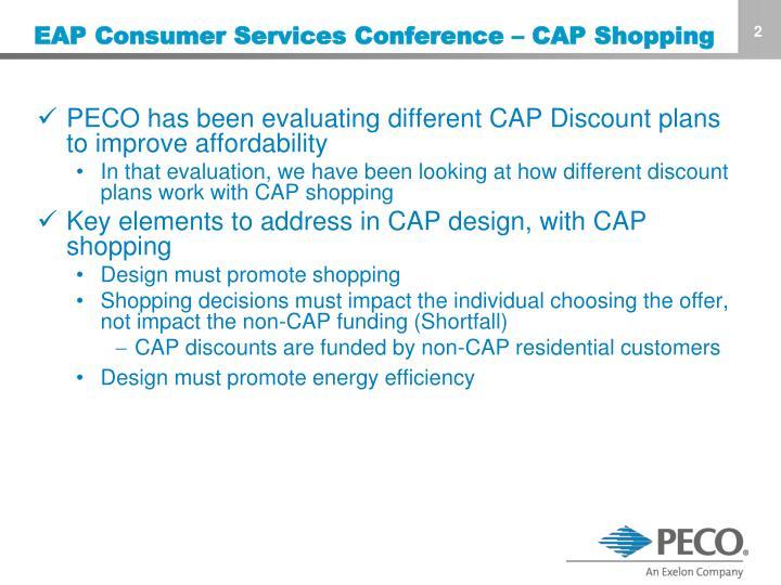 Eap consumer services conference cap shopping