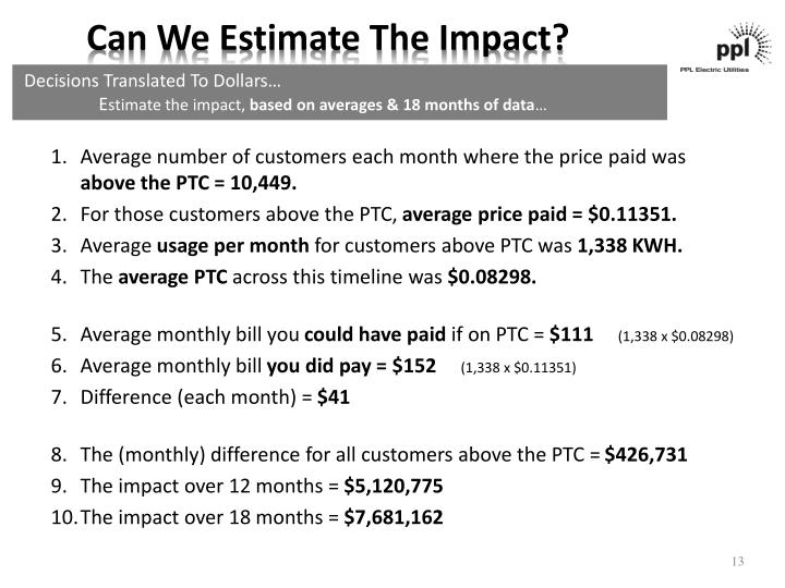 Can We Estimate The Impact?