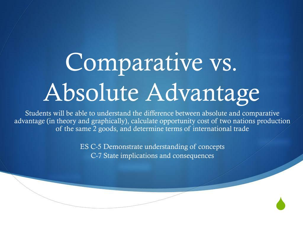 what is absolute advantage theory