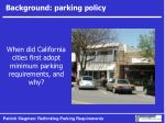 background parking policy