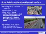 great britain national parking policy reform