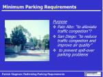 minimum parking requirements