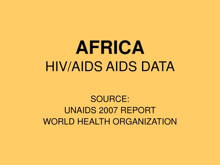 africa hiv aids aids data n.