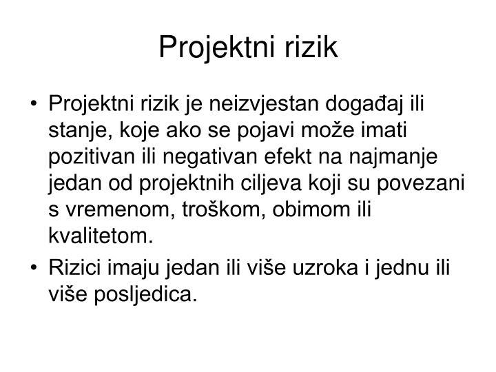 Projektni rizik