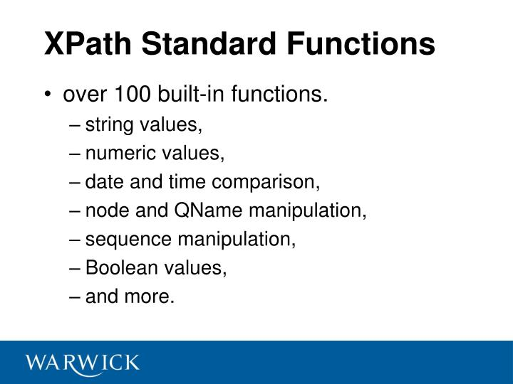 XPath Standard Functions