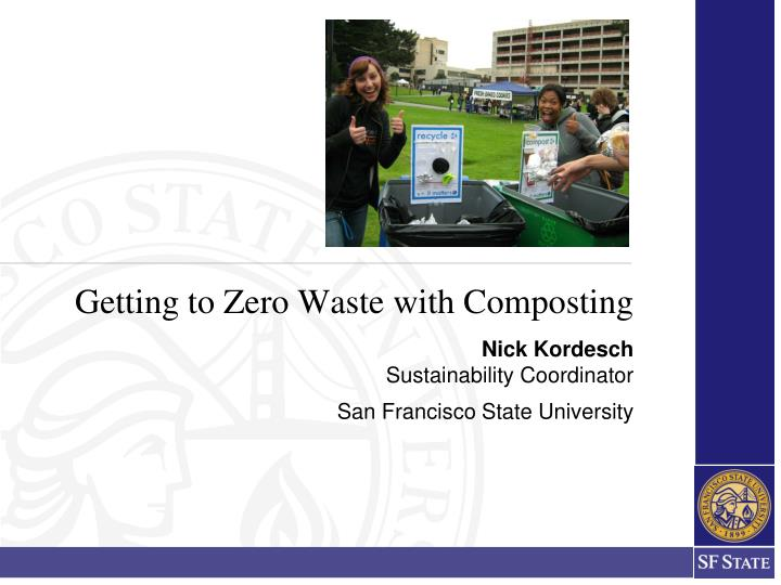 getting to zero waste with composting n.