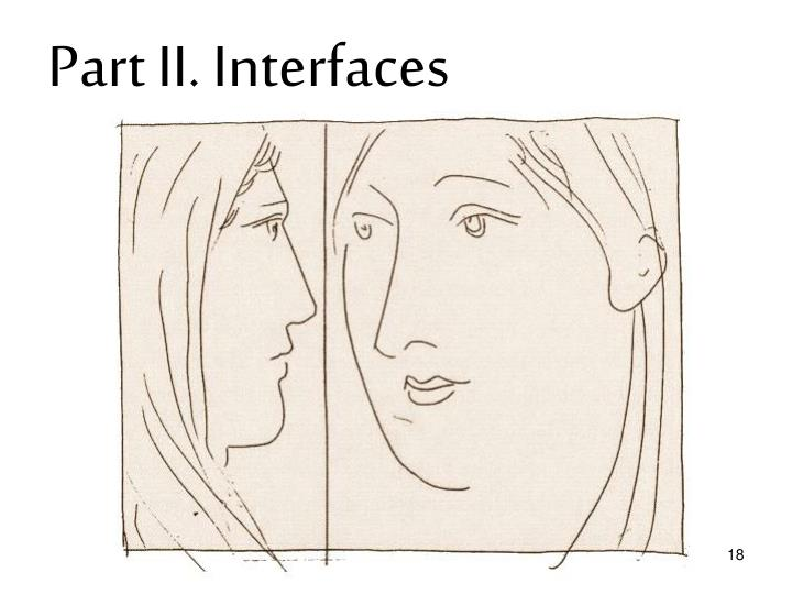 Part II. Interfaces