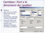 cambiare i font e le dimensioni dei caratteri1