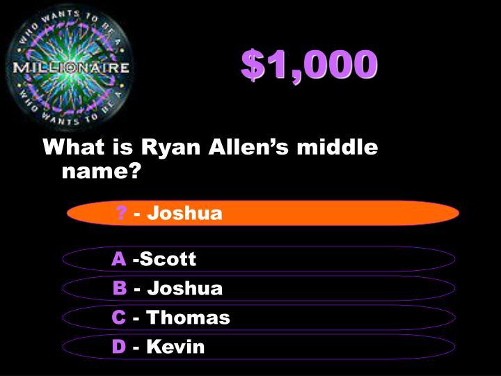 $1,000