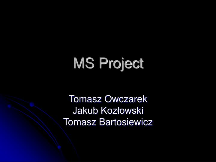 ms project n.