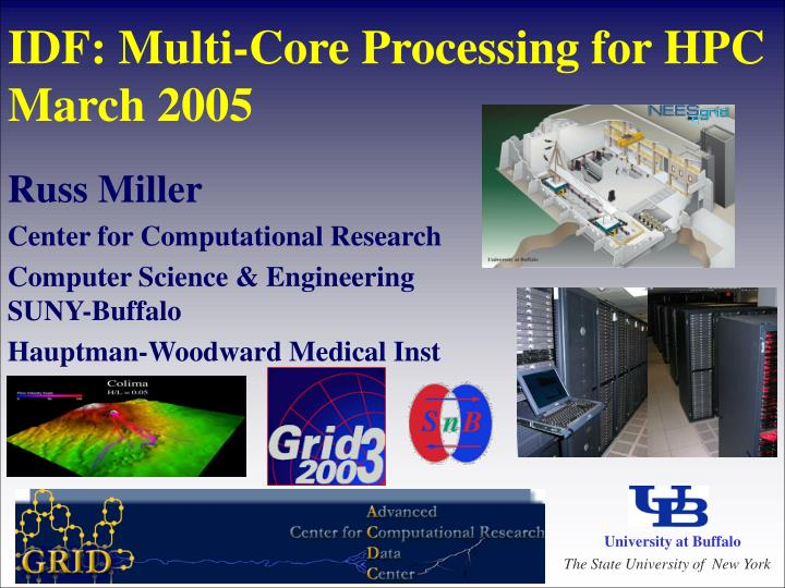 idf multi core processing for hpc march 2005 n.