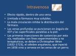 intravenosa